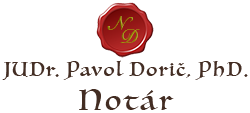 JUDr. Pavol Dorič, PhD. Logo